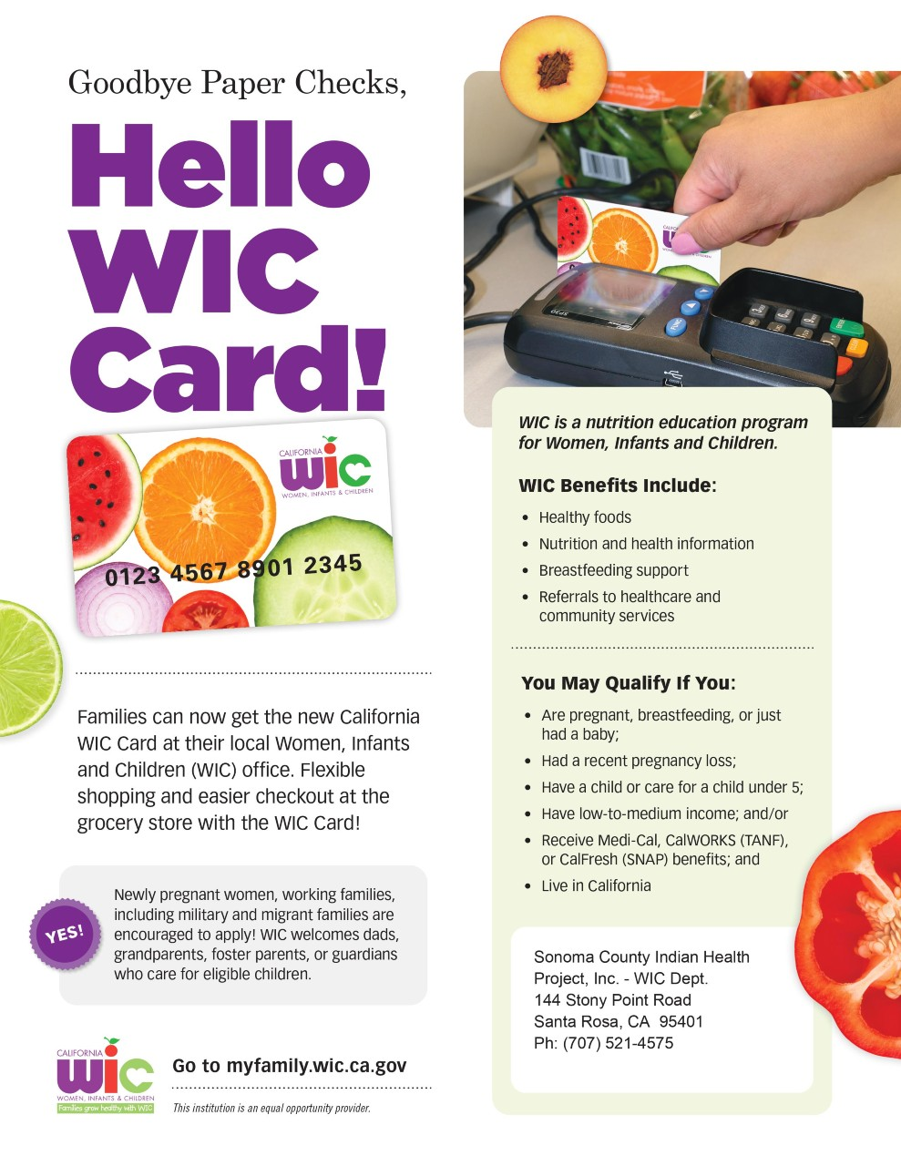 Hello WIC card