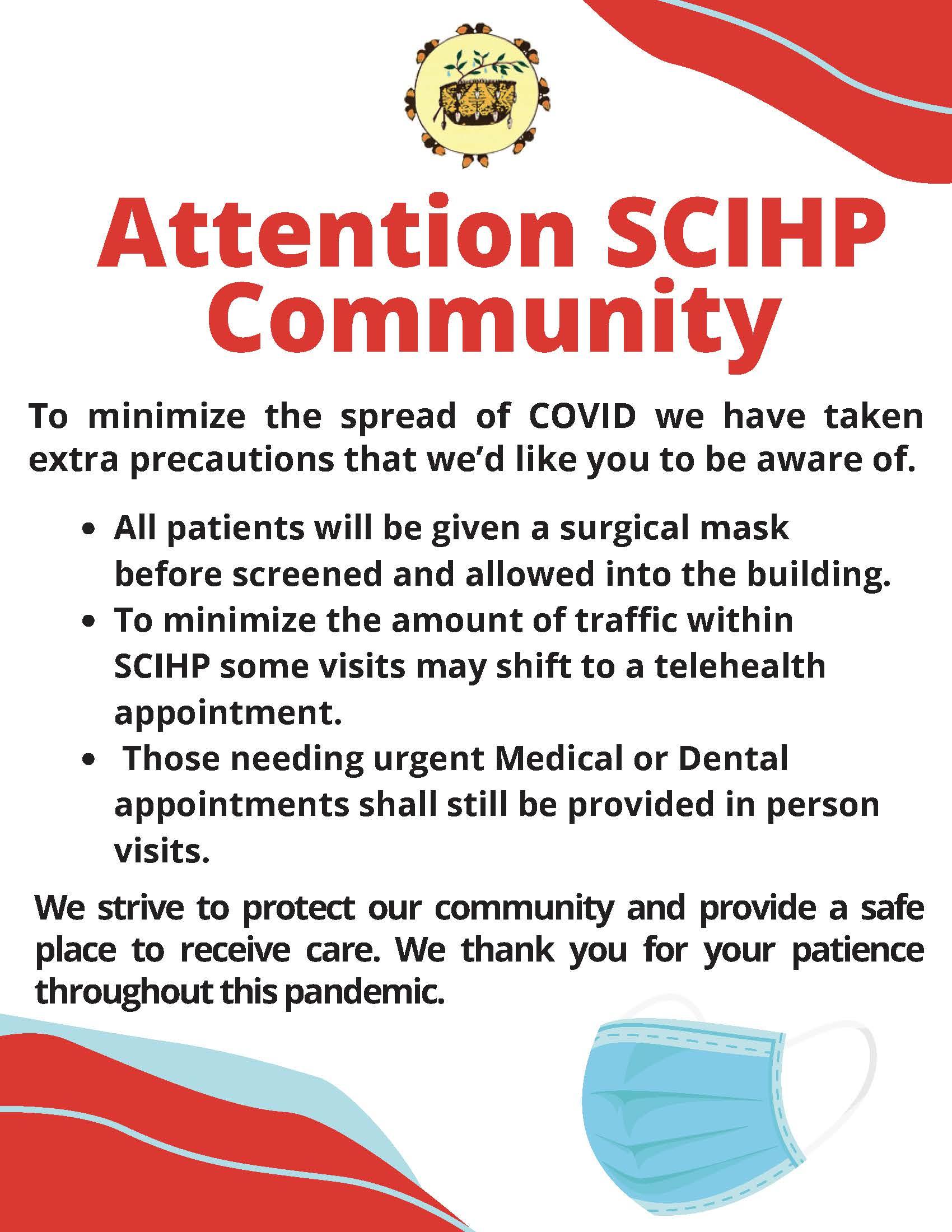 SCIHP Community Announcement